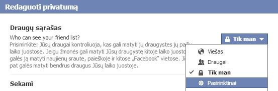 facebook draugų slėpimas